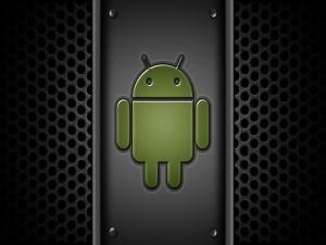 Logo de Android en una estructura metálica