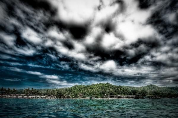 Complejo turístico visto desde el mar