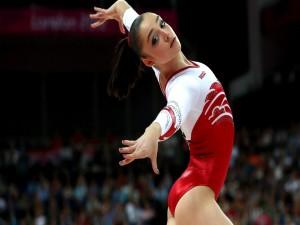 La gimnasta rusa Aliyá Mustáfina