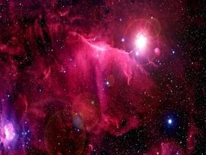 Postal: Gran nebulosa roja