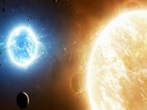 Postal: Atracción solar sobre un planeta
