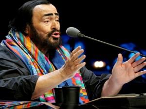 El tenor lírico Luciano Pavarotti