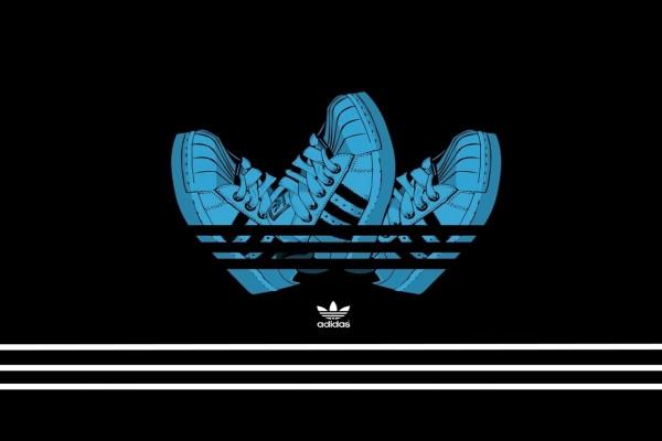 Diseño creativo del logo de Adidas