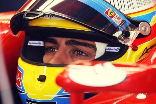Fernando Alonso antes de una carrera