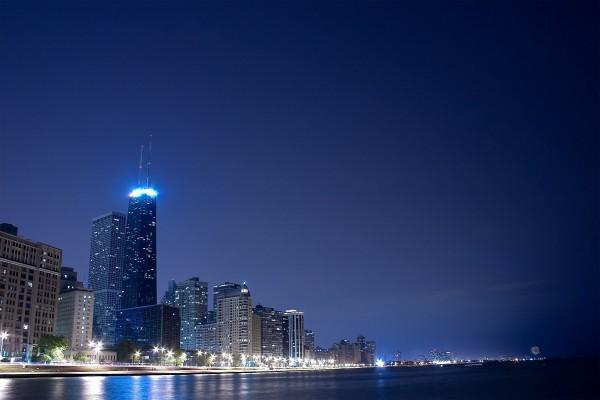 Luces en la noche de la ciudad