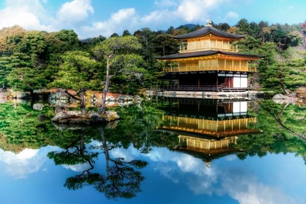 Templo del Pabellón Dorado (Kyoto, Japón)