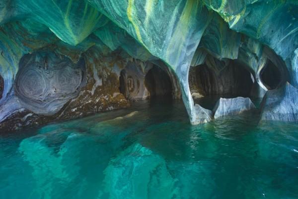 Cuevas de mármol en Lago General Carrera, Chile
