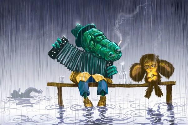 Melancolía bajo la lluvia