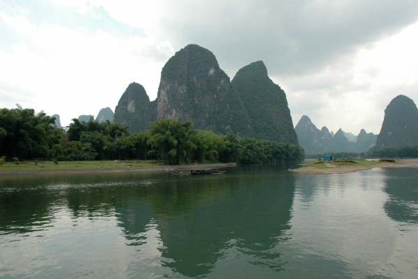Río Li junto a Guilin (China)