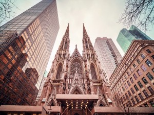 Postal: Catedral de San Patricio en Nueva York