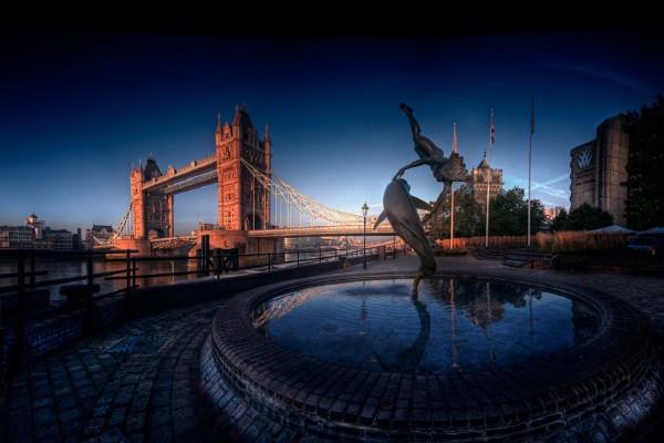 Bonita fuente en Londres