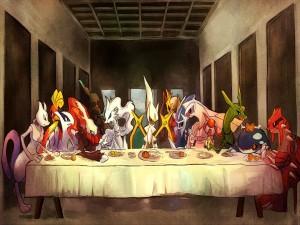 Pokémons en La Última Cena