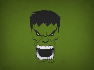 Postal: La cabeza de Hulk
