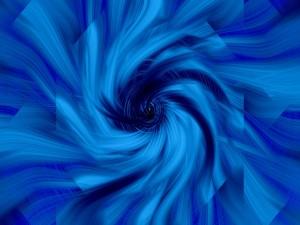 Postal: Remolino azul