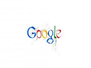 Logo de Google con salpicaduras de pintura