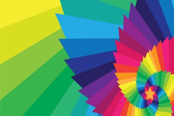 Estrella en una espiral de color