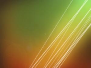 Postal: Líneas luminosas en una imagen coloreada