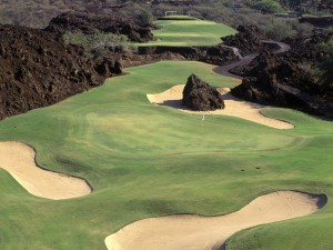 Postal: Un bonito tramo de un campo de golf