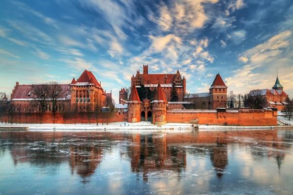 Castillo visto en invierno