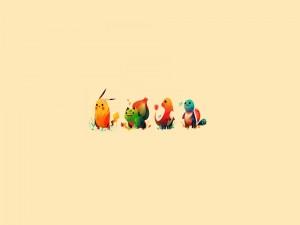 Pequeños y alegres Pokémons