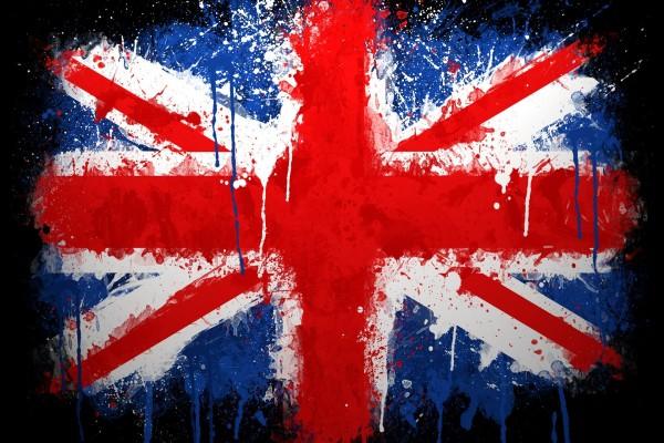 Bandera del Reino Unido de pintura