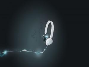 Música en unos cascos