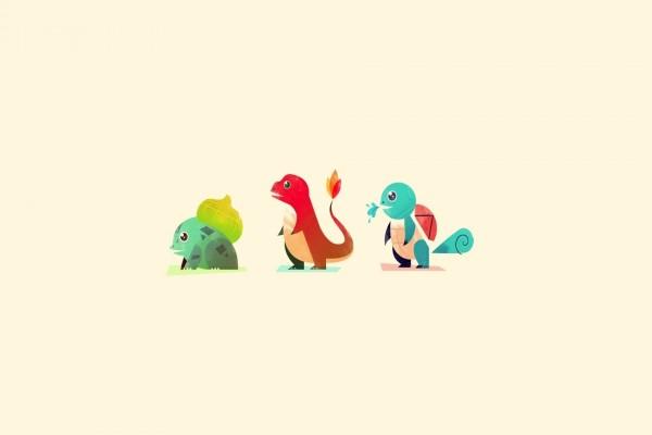 Tres pequeños Pokémons