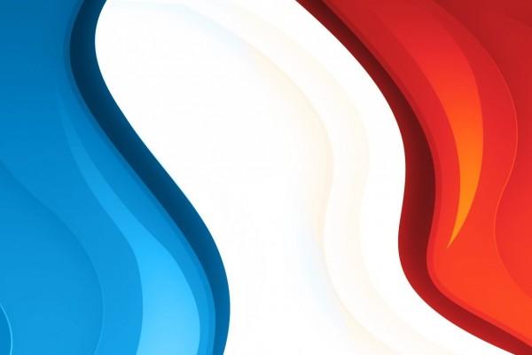Los colores de la bandera de Francia