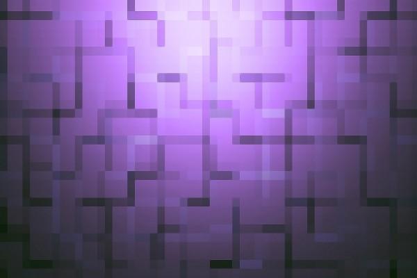 Figuras formando una imagen en un fondo púrpura