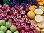 Frutas en exhibición en un mercado