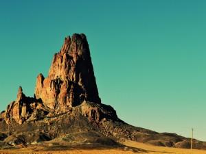 Una imponente roca