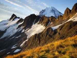 Hielo en las montañas