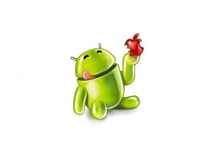 Android comiéndose a Apple