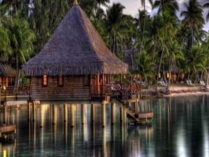Cabaña sobre el mar (Maldivas)