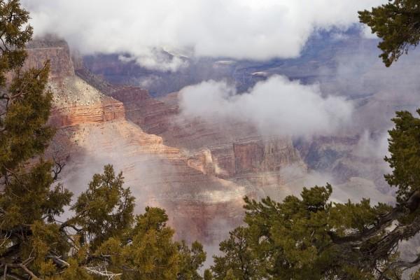 Nubes sobre el cañón