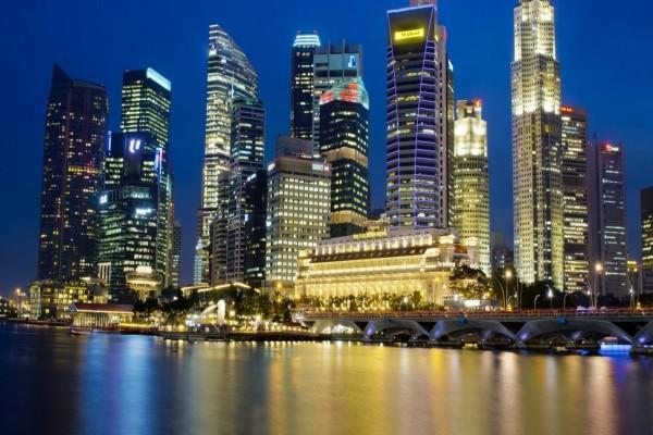 Singapur en la noche