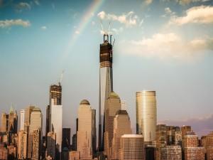 Arcoíris sobre el centro de Nueva York