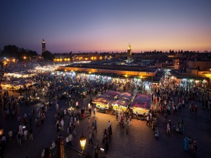 Mercado nocturno en Marrakech
