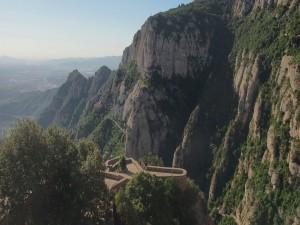 Postal: Vistas al Monasterio de Montserrat