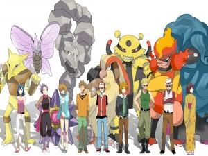 Líderes de Gimnasio y Pókemons