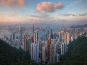 Postal: Hong Kong al amanecer