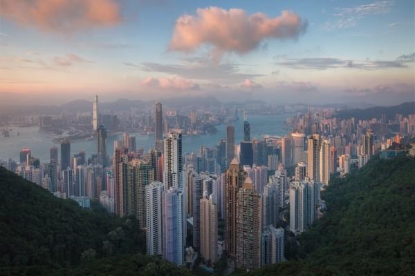 Hong Kong al amanecer