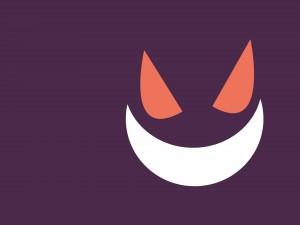 Sonrisa y ojos de un gato digital