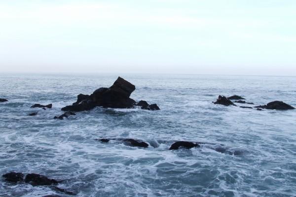 Rocas en la costa de Ribadesella (Asturias)