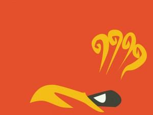 Postal: La cara de un pájaro digital