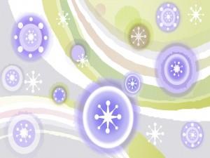 Postal: Copos de nieve púrpuras