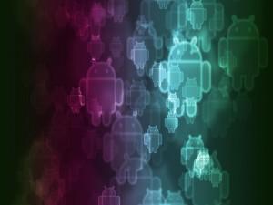 Logotipos flotantes de Android