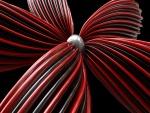 Flor roja digital