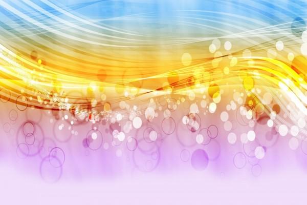 Ondas y círculos coloridos