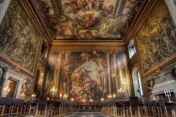 Pabellón pintado en el Old Royal Naval College (Londres)